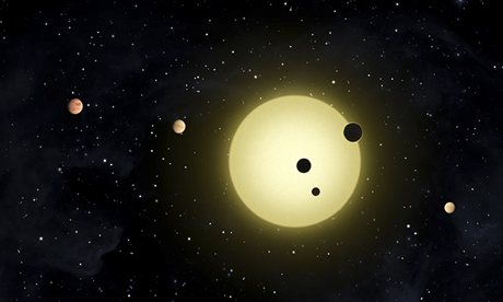 Artist's impression of planets discovered by Kepler spacecraft